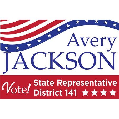 Custom Pole Flags Patriotic Vertical Celebrate Veterans