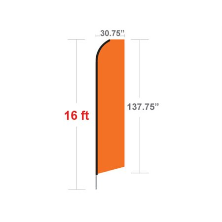 Great Deals WOW! Econo Stock Flag p-1601 Stock Feather Flags $126.40