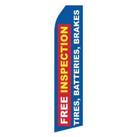 Quality Brake Service Red Yellow Black Checker Stock Flag DA03504 Stock Flags and Graphic Banners $126.40