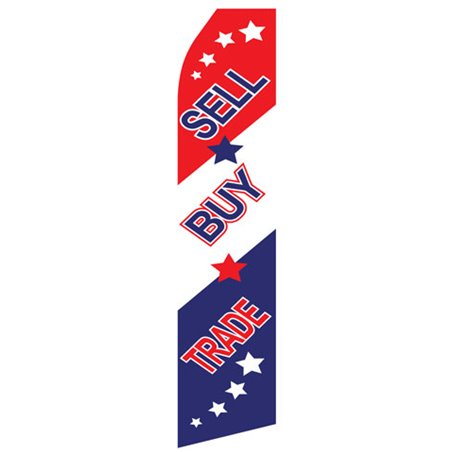 We Finance Red and Blue Stock Flag F5611AE Stock Flags and Graphic Banners $126.40