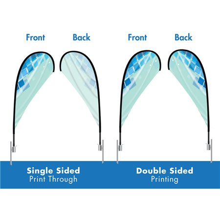 X-tra Large Tear Drop Flag 13.5ft p-1283 Advertising/Feather Flags $203.56