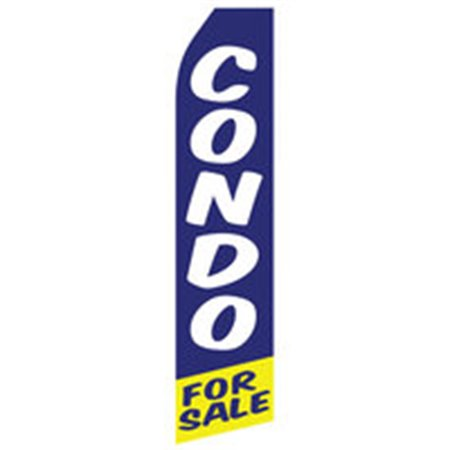 Now Renting Econo Stock Flag Yellow Light Blue iP-1837 Real Estate Branding & Signage $126.40