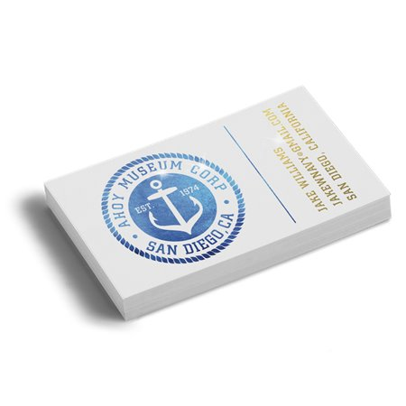 16PT Akuafoil Business Cards With Spot UV on back only, Full UV on the front